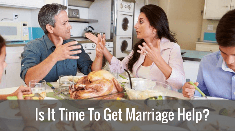 Is It Time To Get Marriage Help?