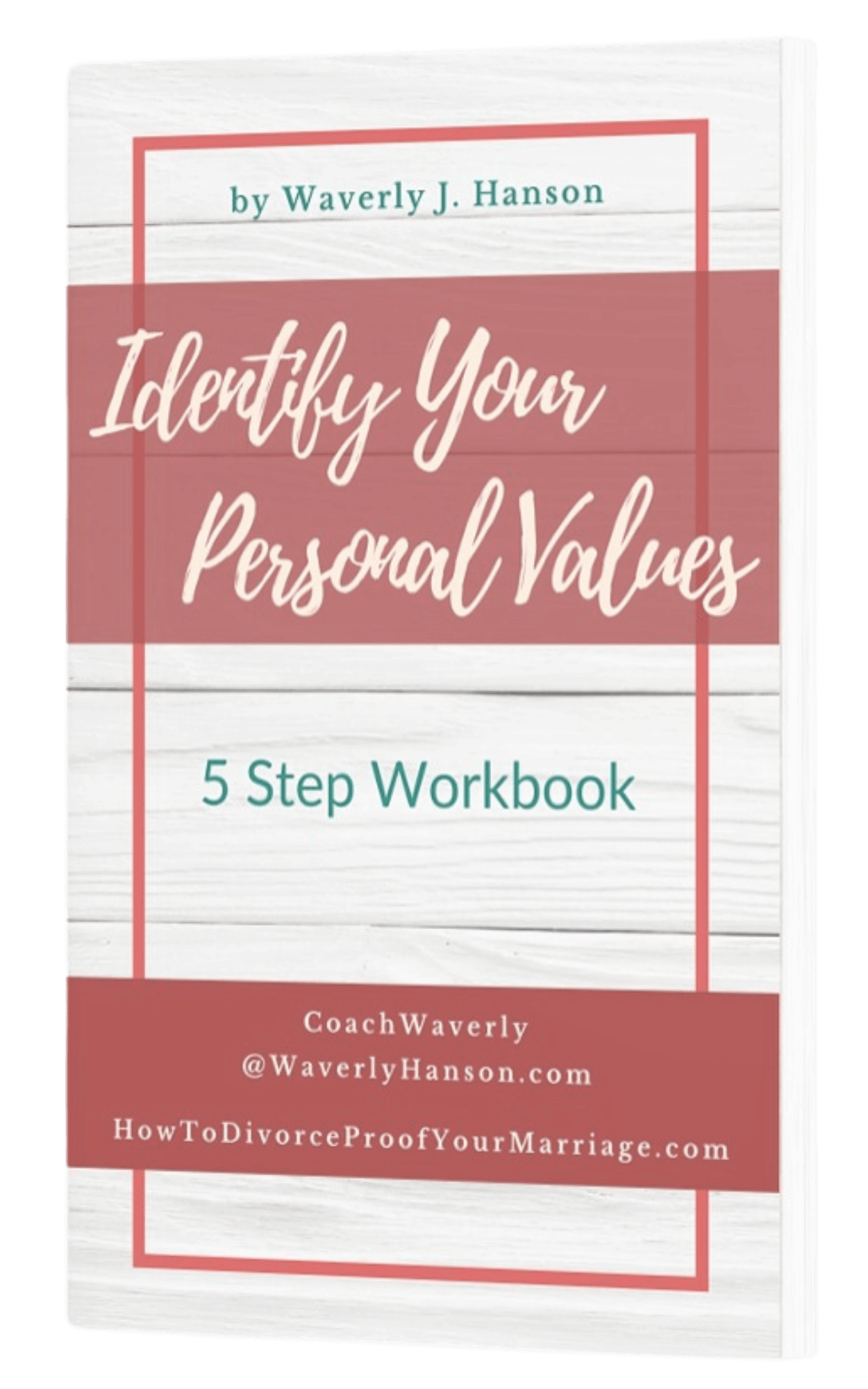 workbook product image mockup identify your personal values
